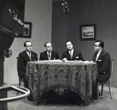 Programa sobre la Constitución Nacional. RCTV. Caracas, 1961. Albano Provenzali, Arturo Uslar Pietri, Rafael Caldera, Rafael Gallegos