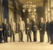 Primer Gabinete del Presidente Isaías Median Angarita. Arturo Uslar Pietri, Ministro de Educación. Caracas 1941