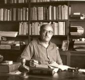 Pedro Grases en su estudio en Quinta Vilafranca, 1963