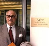 Pedro Grases en sede de la OPEC, Viena, septiembre 1985